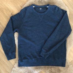 Uniqlo Crew Neck Sweater Long Sleeve Blue